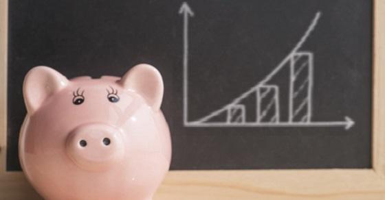 Savings Growth concept